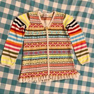 Hanna Andersson Girl's Fair Isle Winter Sweater